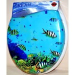 Cиденье для унитаза с рисунком Океан
